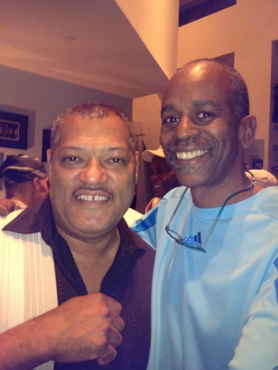 Lawrence Fishburn & Tommy (with Danny Glover in the white hat, just behind us) @Dizzy's Coca Cola Jazz Club NYC 8:2:12