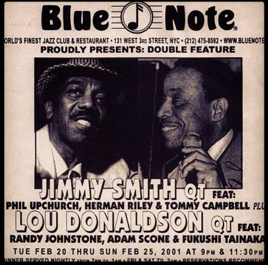 Jimmy Smith & Lou Donaldson double biil @Blue Note NYC 2001