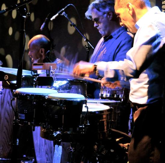 Mario,Roger & Tommy last night with The Dizzy Gillespie Afro-Cuban Experience at The Hamilton in Washington,DC :6:28:14 .jpg