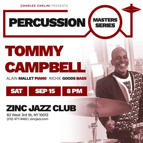 Tommy Campbell's Tea Trio at ZINC BAR 9:16:18