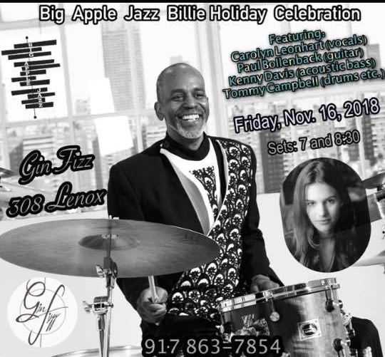 Tommy Campbell Quartet at Gin Fizz Harlem 2018