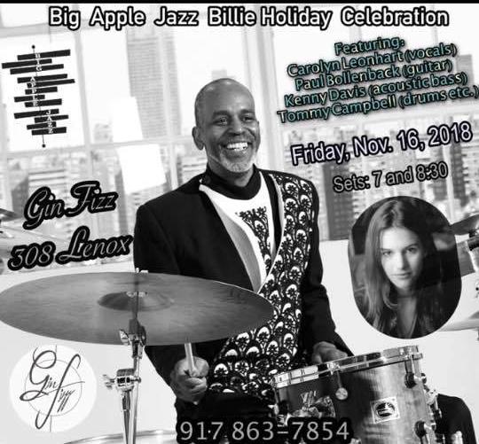 Tommy Campbell Quartet at Gin Fizz Harlem 2018