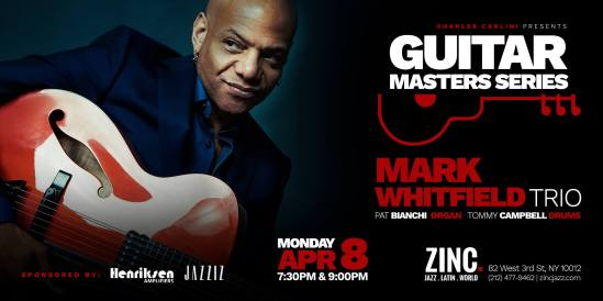 Mark Whitfield Organ Trio at Zinc NYC