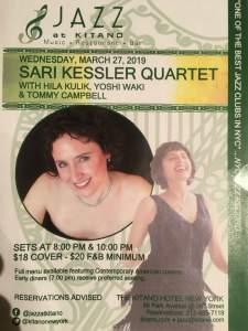 Sari Kessler and Hila Kulik at Jazz at Kitano.