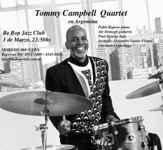 Tommy Campbell Quartet at Be Bop Jazz Club Buenos Aires, Argentina 2019