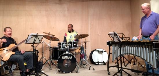 Gary Burton,John Lee & Tommy Campbell, *rehearsal in Switzerland (fun too!)IMG_1396