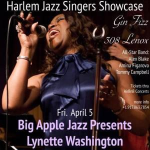 Harlem Jazz Singers Showcase 4:5:19 Kynette Washington