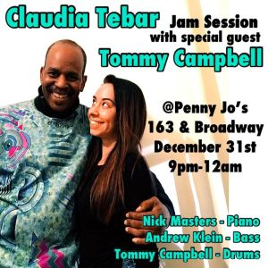 Claudia Tebar & Tommy Campbell at Penny Joe's New Years Eve Jam