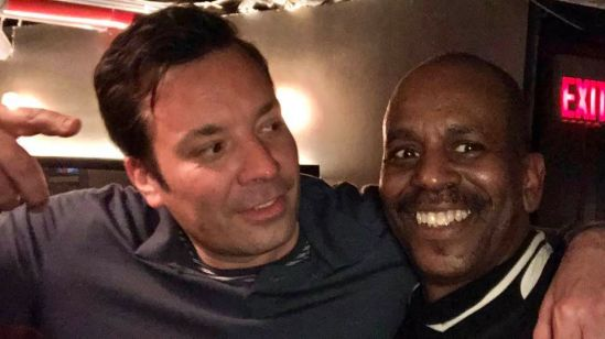 Tommy Campbell and, Jimmy Fallon of The Tonight Show NBC at Jazz Standard..jpg