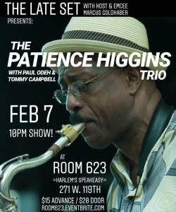 Patience Higgins Trio Advertisement February 7th,2020